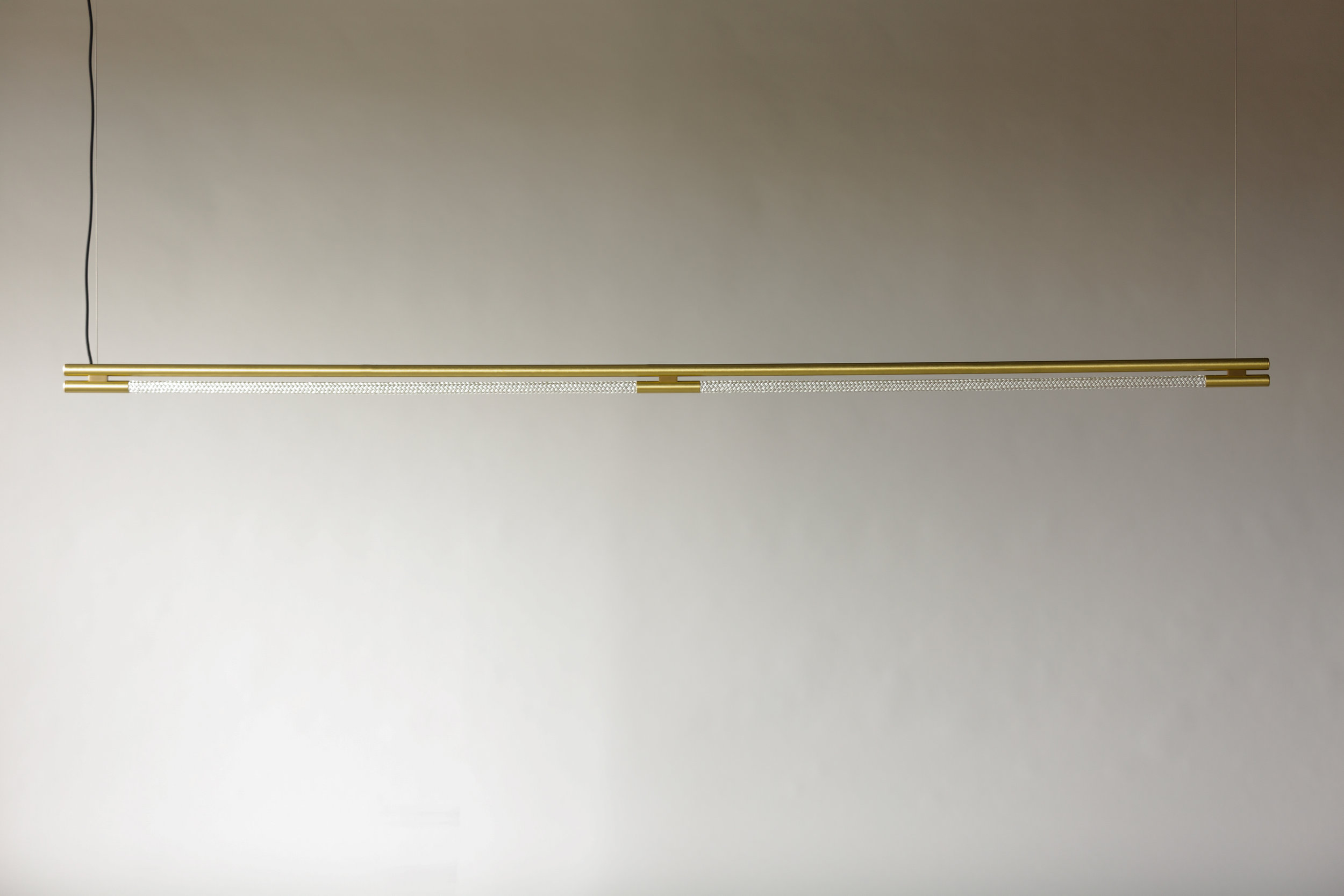 8' Leto Suspension - Cable  (pictured in Satin Brass / turned off)