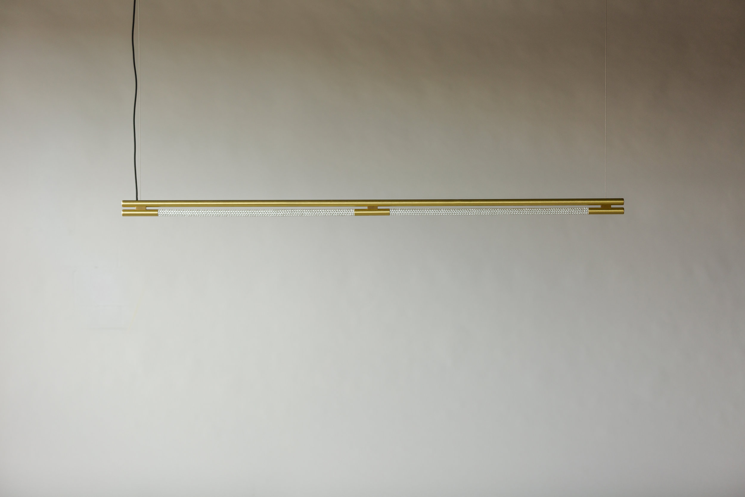 6' Leto Suspension - Cable  (pictured in Satin Brass / turned off)