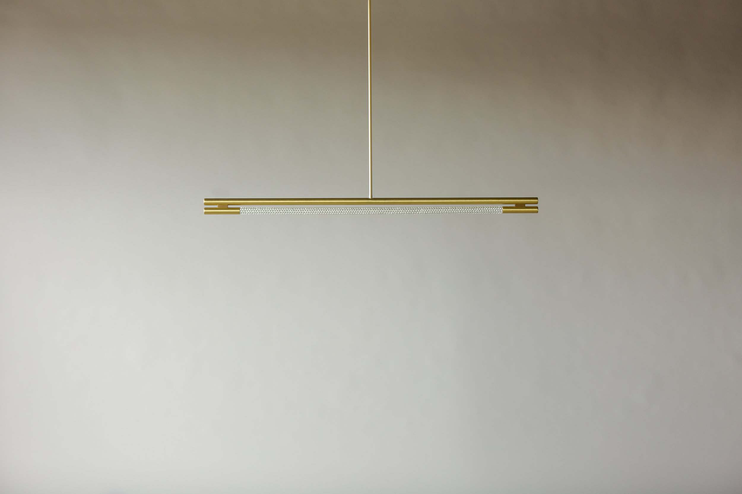 4' Leto Suspension - Rod  (pictured in Satin Brass / turned off)