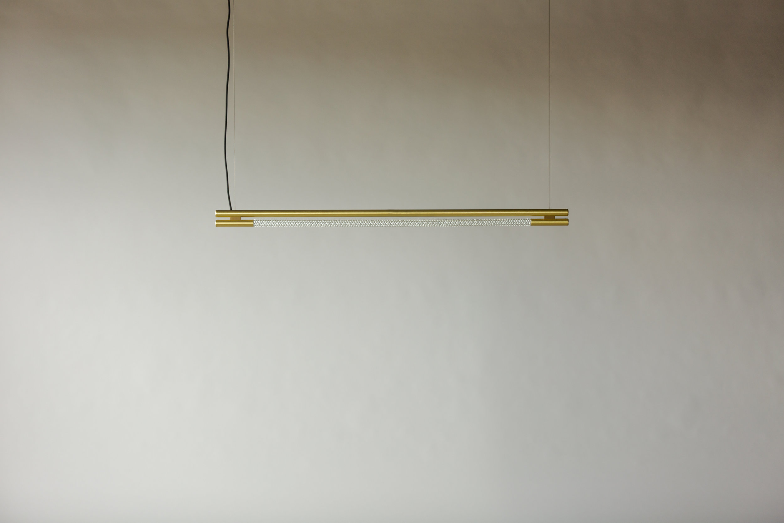 4' Leto Suspension - Cable  (pictured in Satin Brass / turned off)