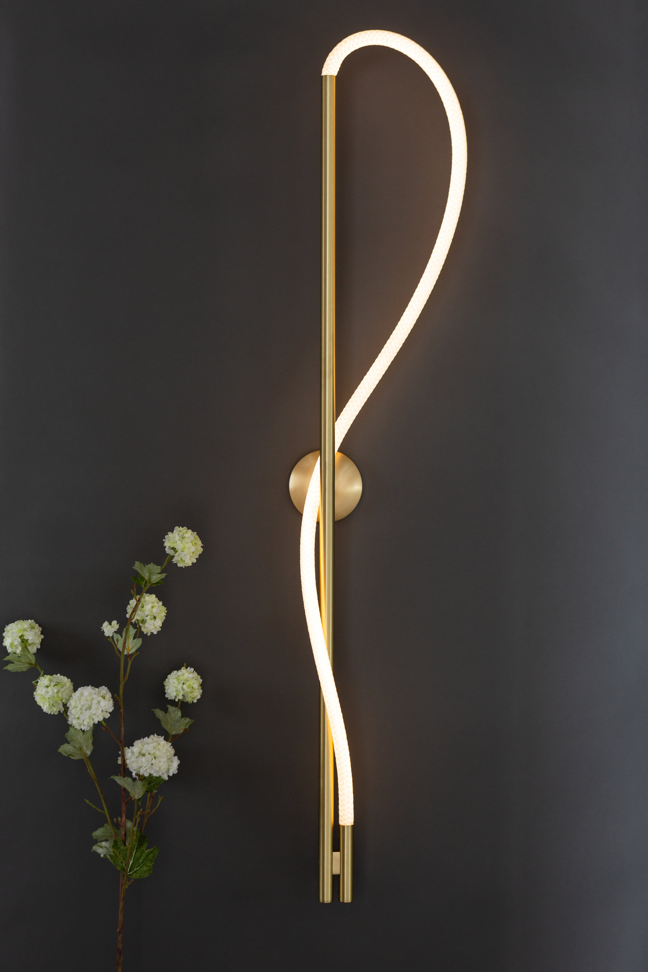 As pictured: 4.5' Surrey Sconce in Satin Brass - Vertical Orientation