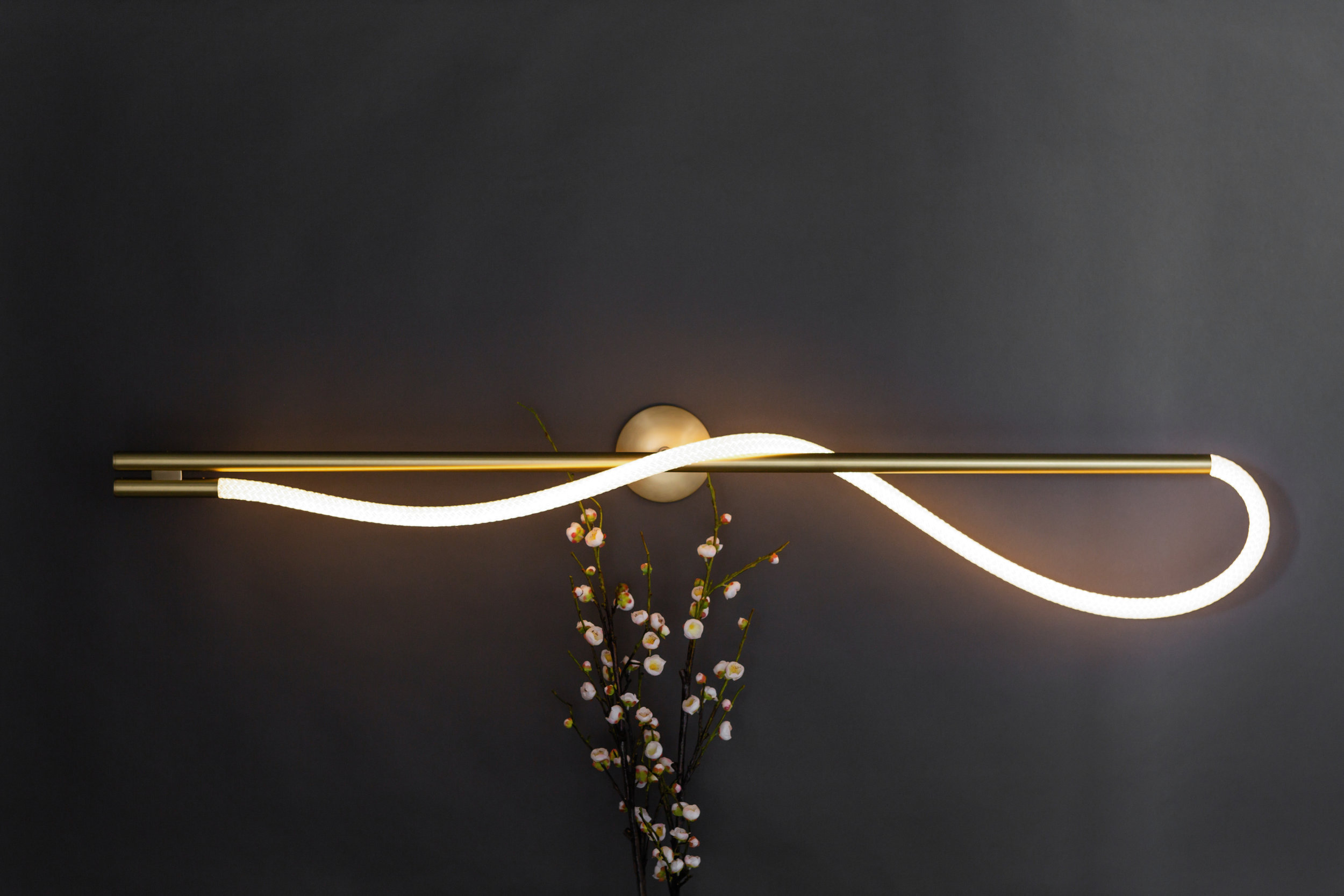 As pictured: 4.5' Surrey Sconce in Satin Brass - Horizontal Orientation