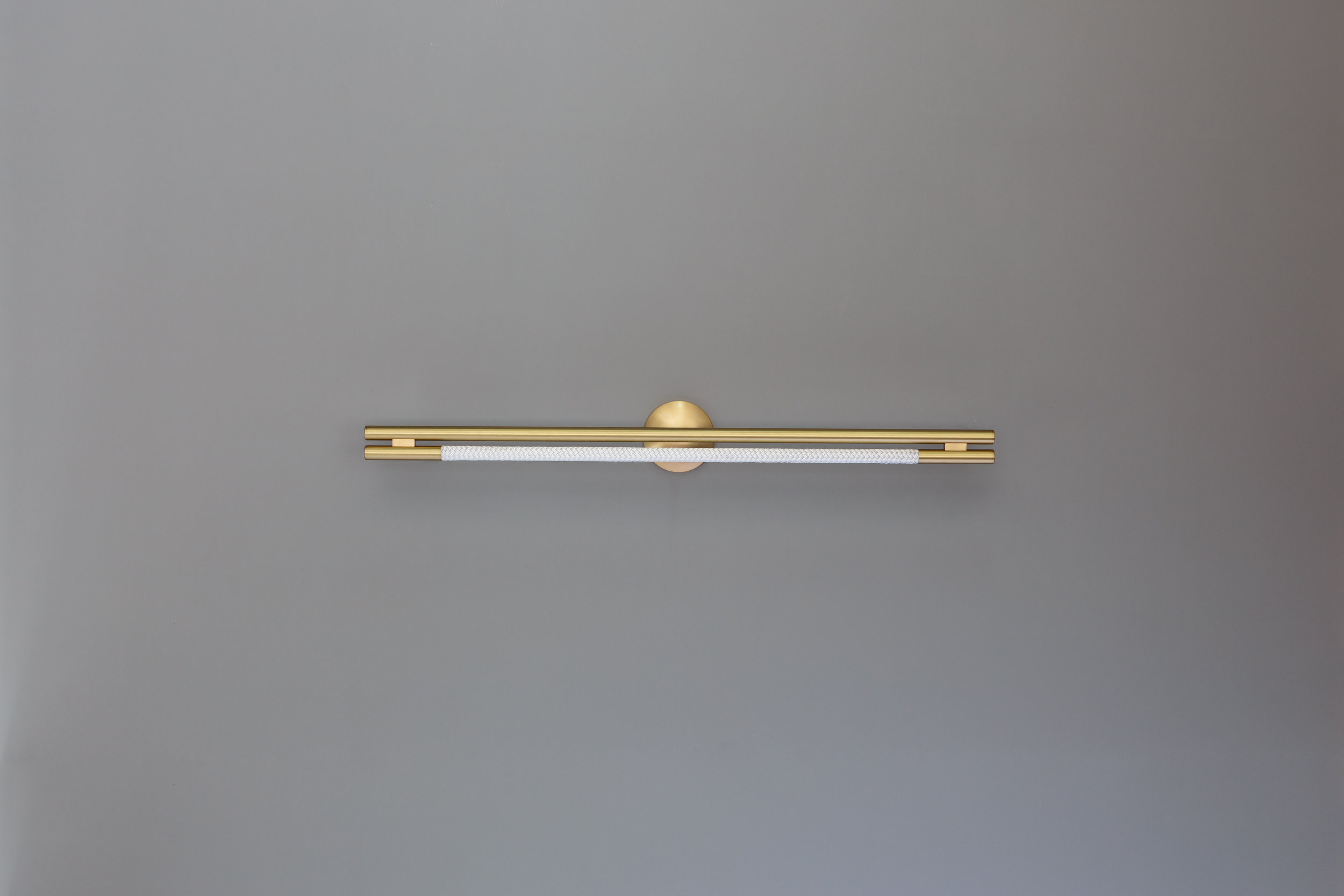 3.5' Leto Sconce (pictured in Satin Brass / turned off)