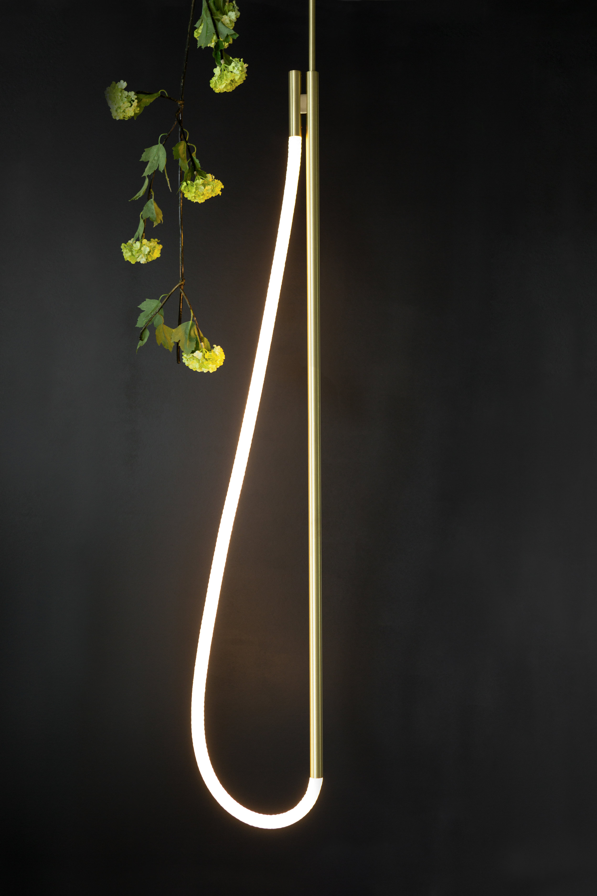 As pictured: 4.5' Artemis Pendant in Satin Brass