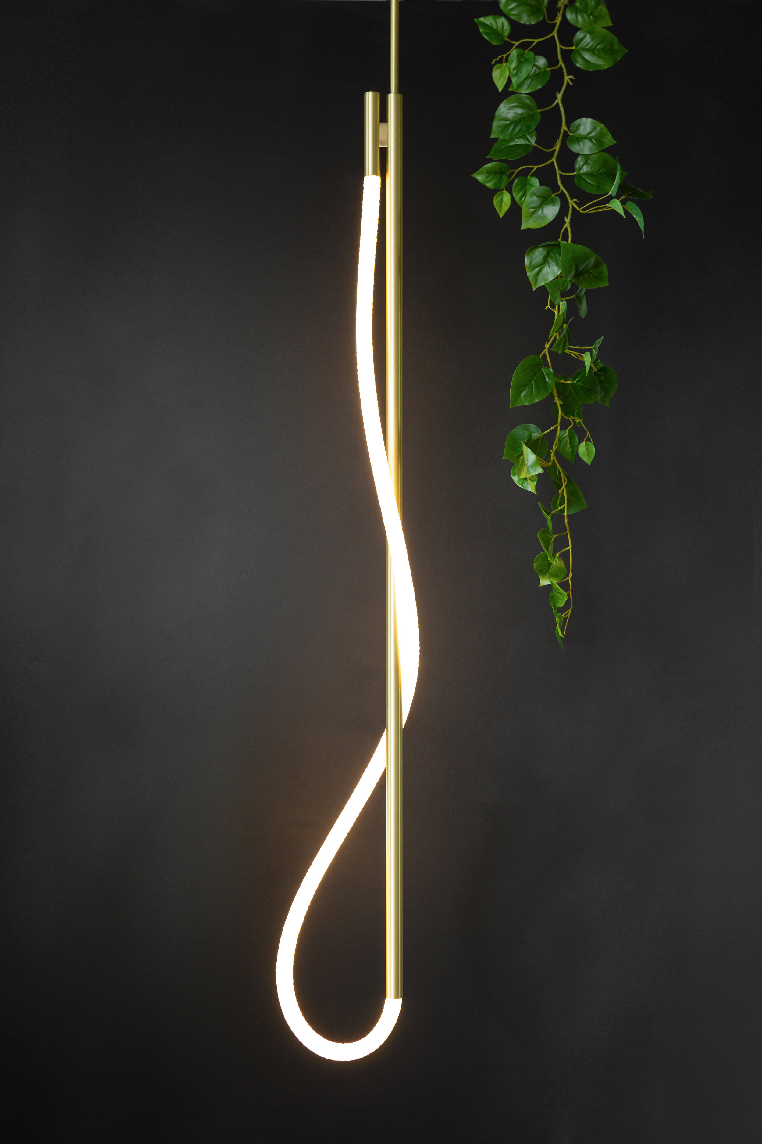 As pictured: 4.5' Surrey Pendant in Satin Brass