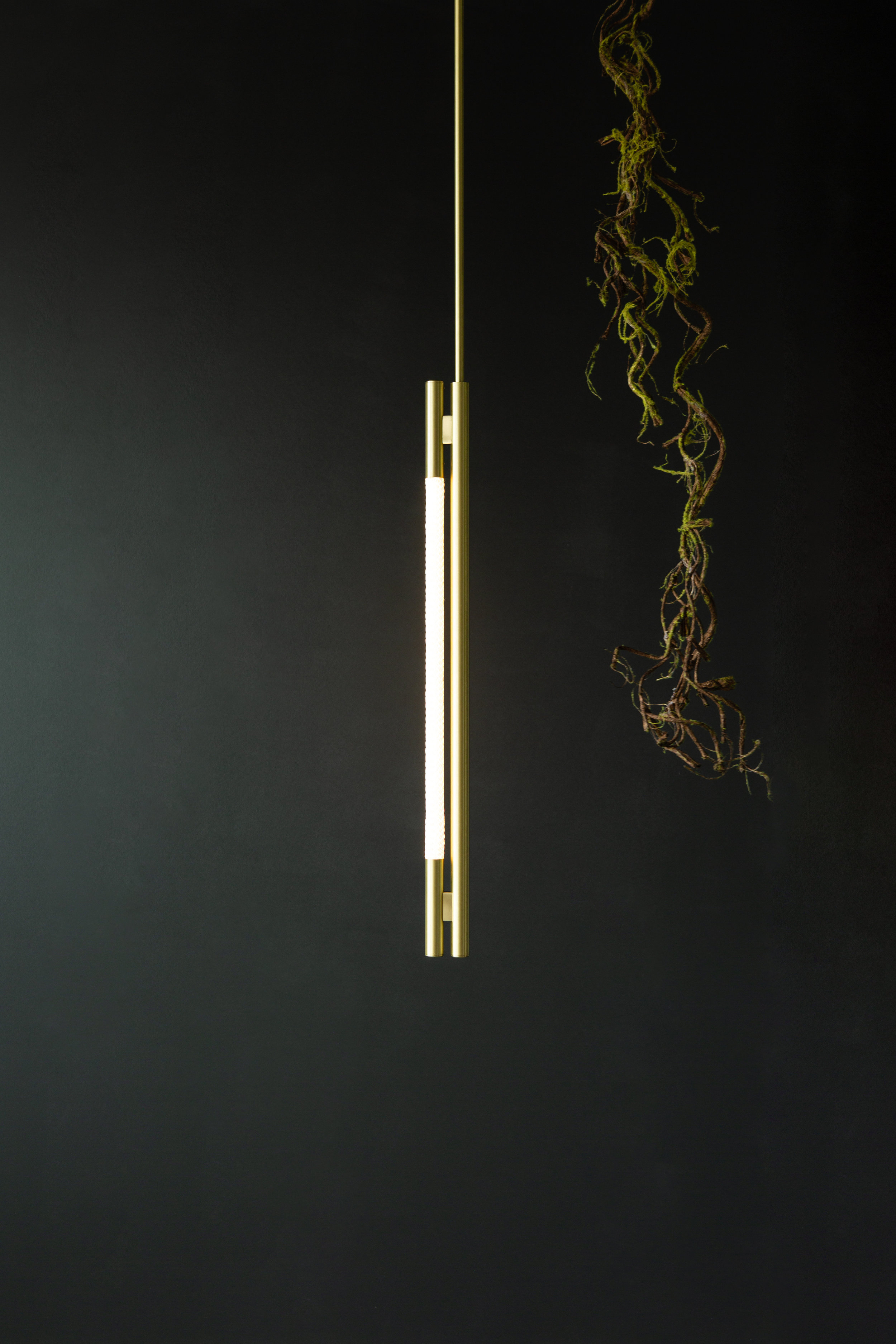 As pictured: 2.5' Leto Pendant in Satin Brass