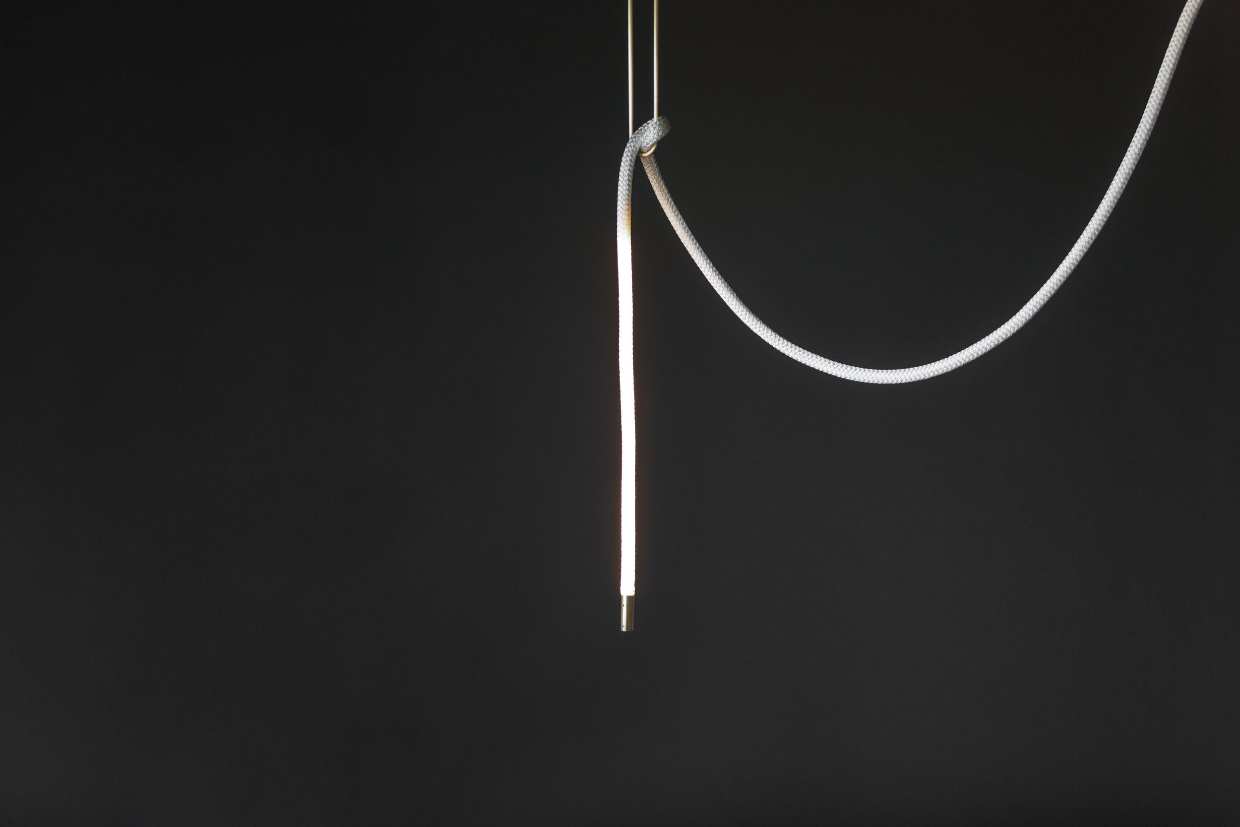 As pictured: 2 Foot Lit Length in Satin Brass