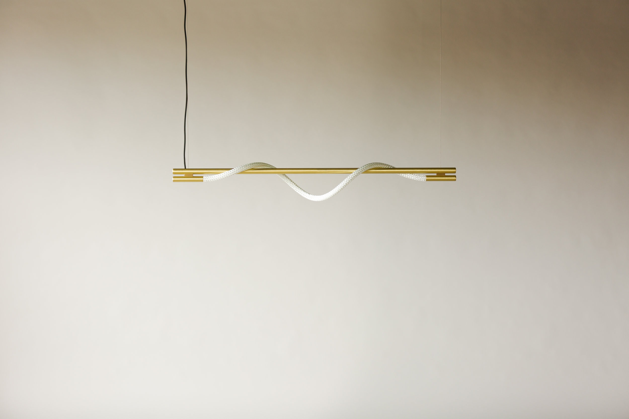 4' Surrey Suspension III - Cable  (pictured in Satin Brass / turned off)