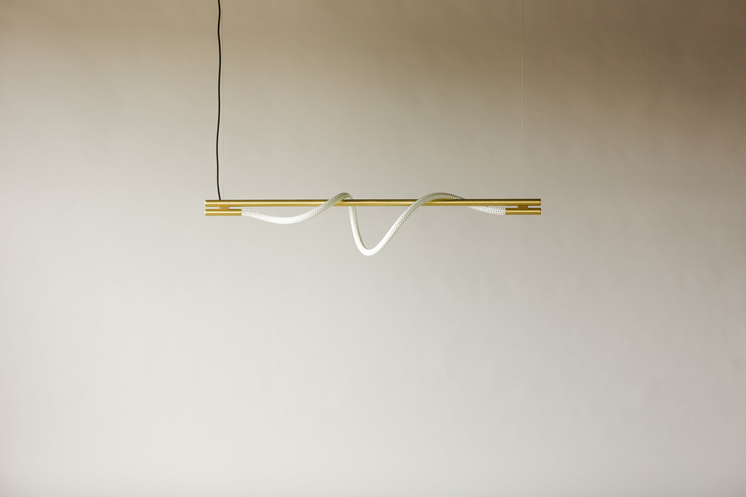 4' Surrey Suspension IV - Cable  (pictured in Satin Brass / turned off)