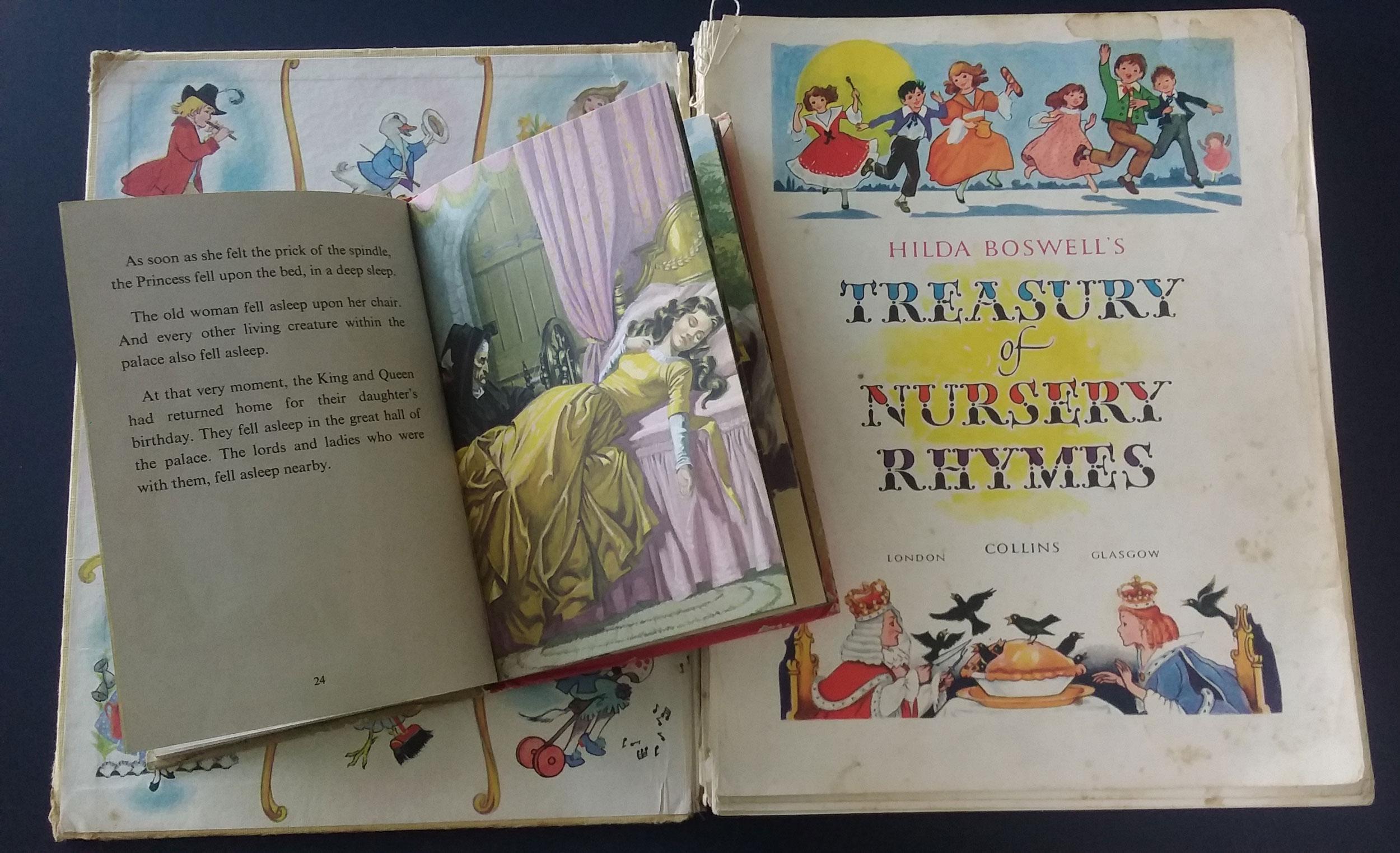 Memories from childhood:  Ladybird books  Sleeping Beauty  1965 illus. Eric Winter & Hilda Boswell's  Treasury of Nursery Rhymes