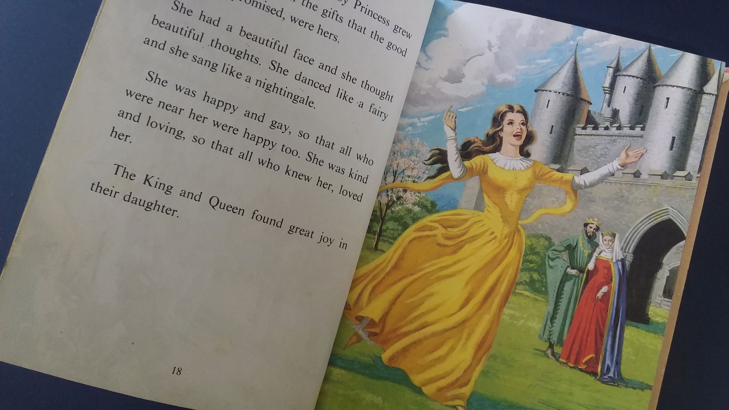 "Sleeping Beauty sublime in yellow. Illustrated by Eric Winter, Ladybird Books ""Well-loved Tales"" 1965"