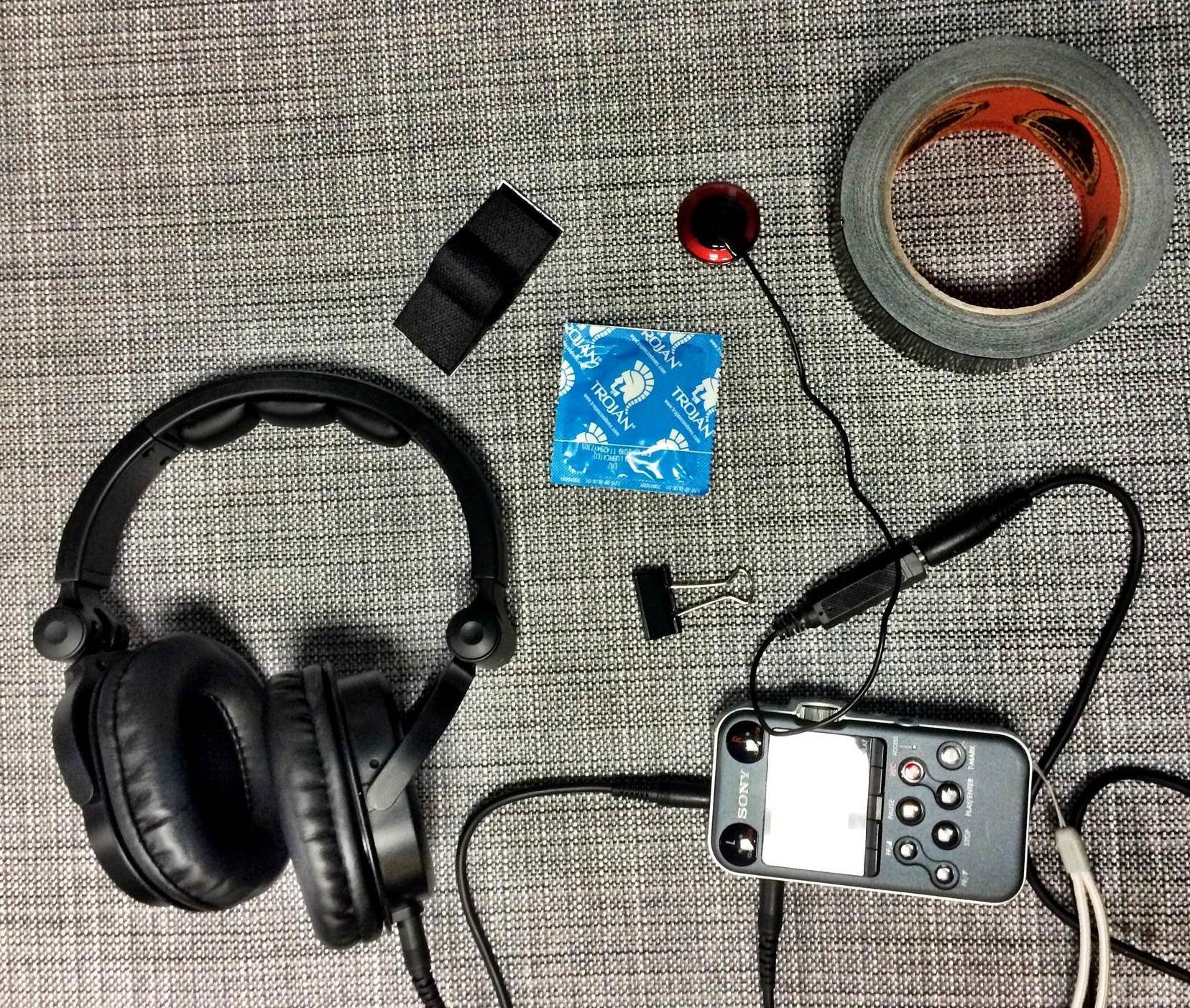 My underwater recording equipment.