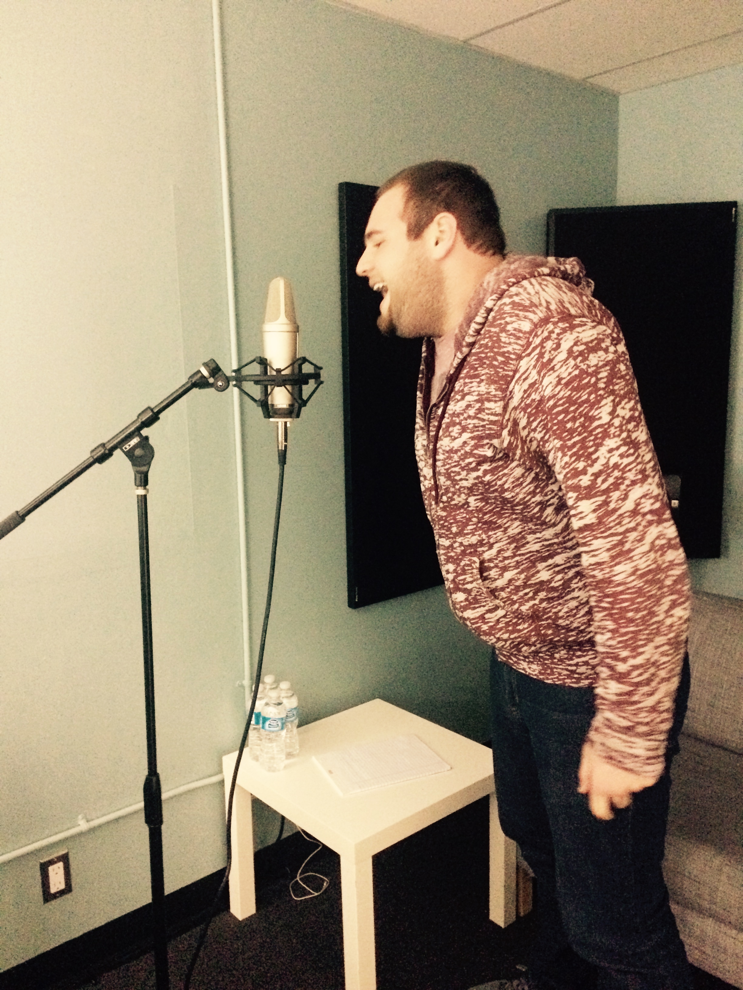 Brad lends his talent for screeching to the project.
