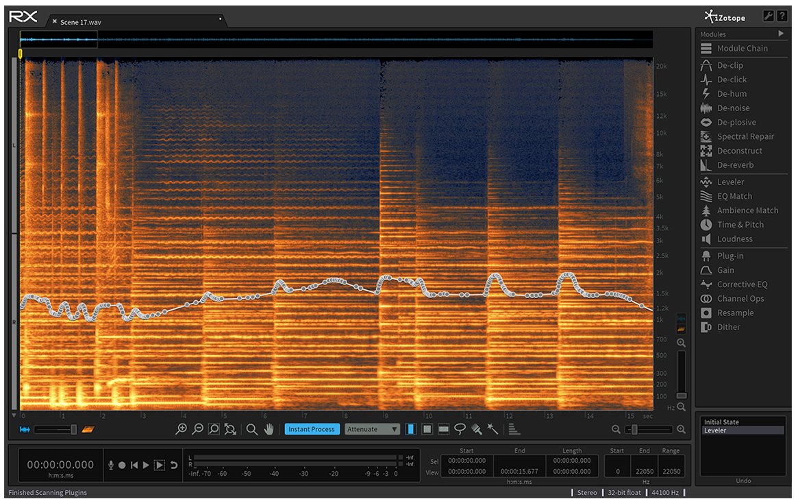 Using  iZotope RX  software to improve post-production dialogue.