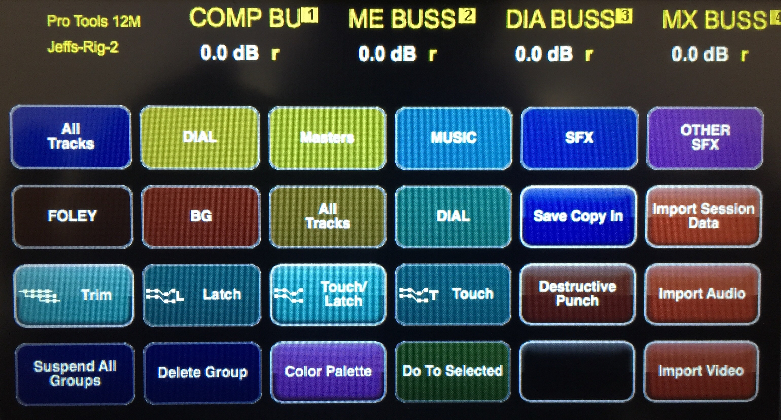 Customizing the first page of Touch buttons places all my favorite commands up front