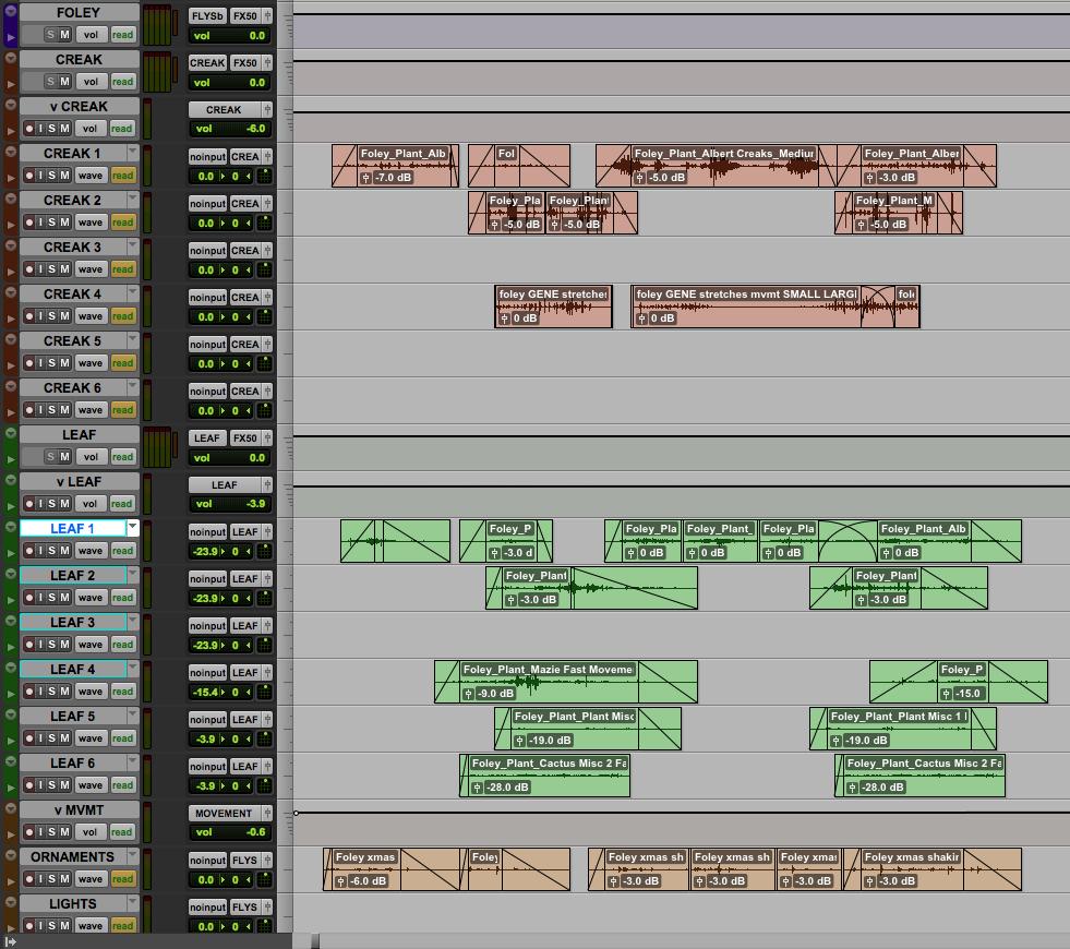 Albert hand cut custom sound effects.