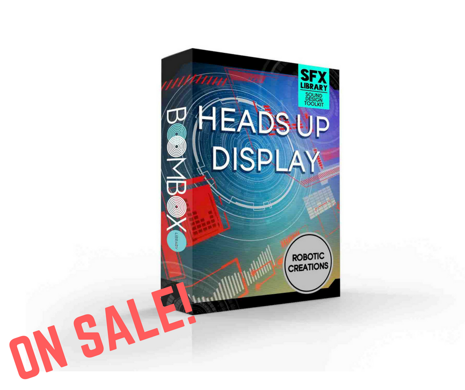 HURRY! - Don't forget that from now until 12/25, the sound design toolkit is FREE with your purchase of the Heads Up Display SFX library! That's $20 off! Don't miss out.