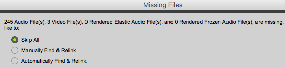 Missing audio files can grind your work to a halt.