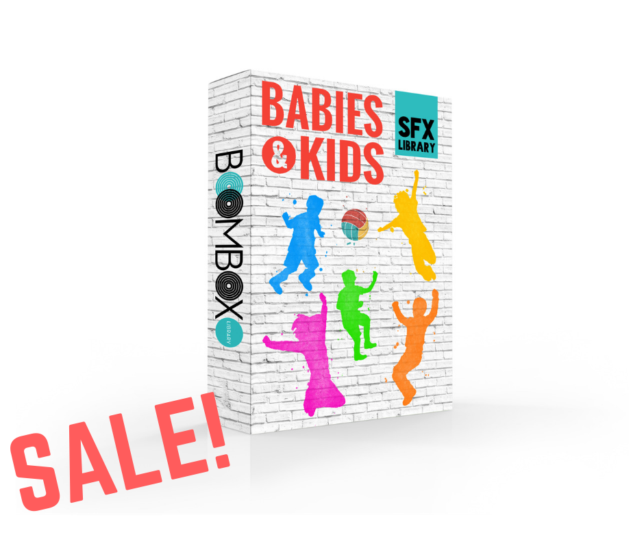 Get 25% Off Everything! - To celebrate our newest library release, we're giving 25% off our entire site! For a limited time, the Babies & Kids sound effects library is only $30!