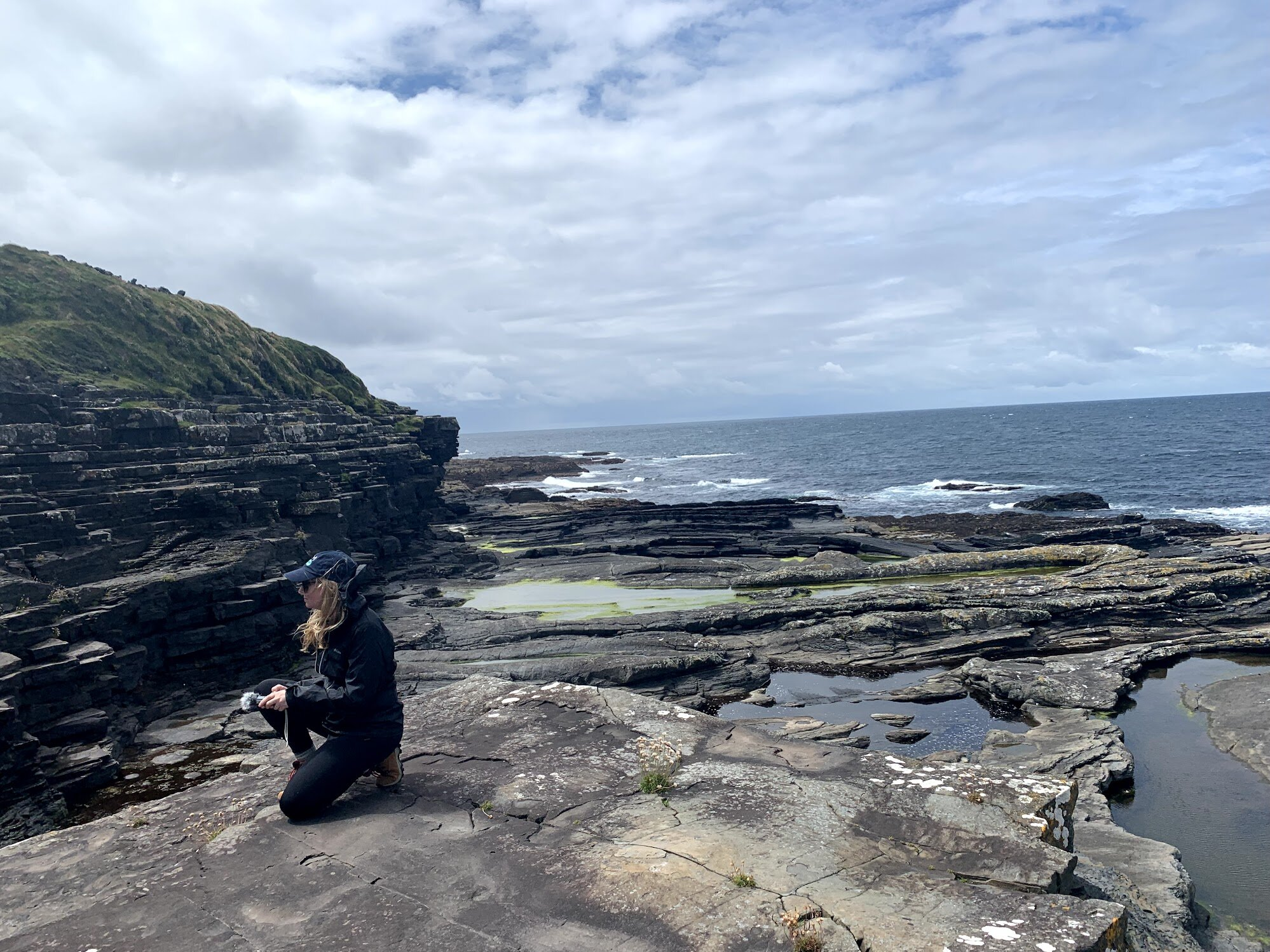 Kate records water cliffs of moher Ireland.jpg