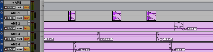Single sounds layered in with long ambiences render the VCA useless