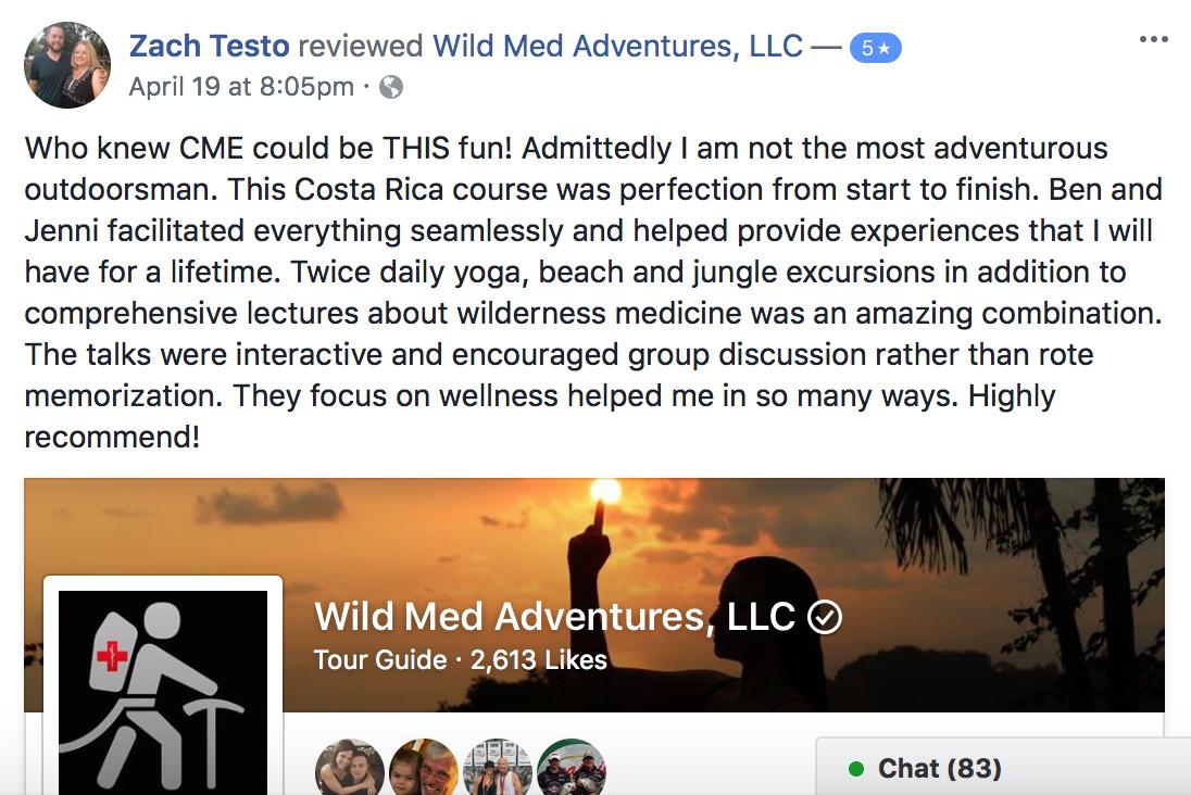 Facebook Review: Costa Rica Tropical Medicine and Wellness Retreat