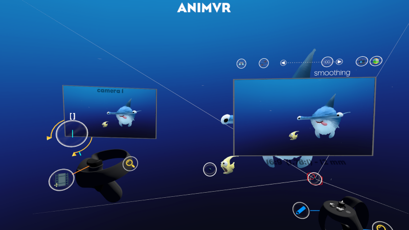 Paint, animate and render directly in VR. Screenshot from inside AnimVR.