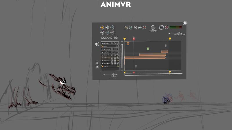 The making of Hope's Blade by Joe Daniels. Screenshot from inside AnimVR