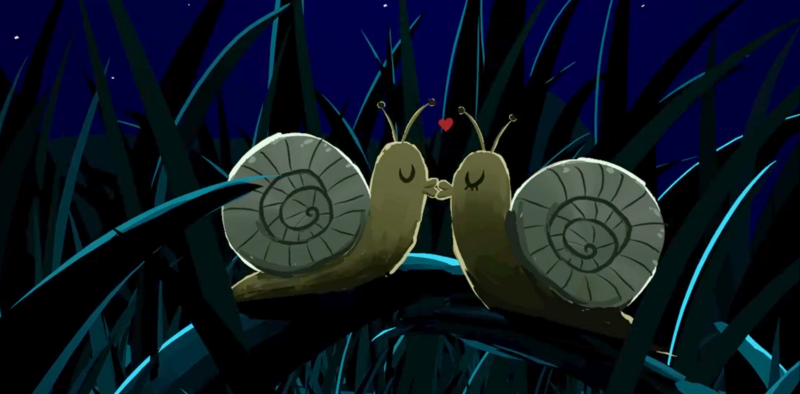 Screenshot from the short Moony, created in Quill by Champu Chinito