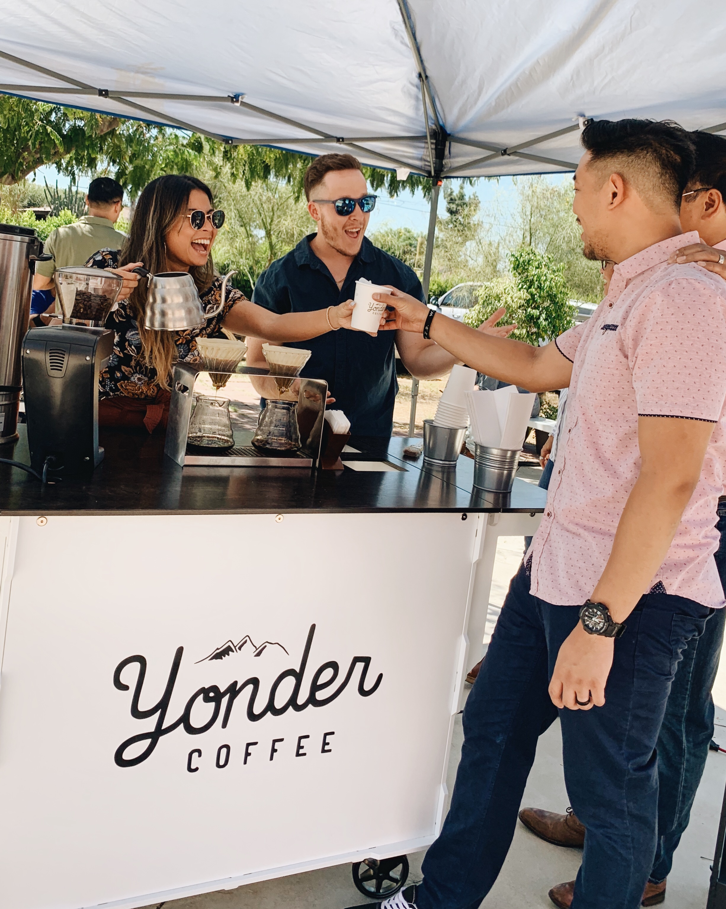 bring our coffee cart to your event - Community is very important to us.We love engaging into creative conversations with the people we meet at every event.