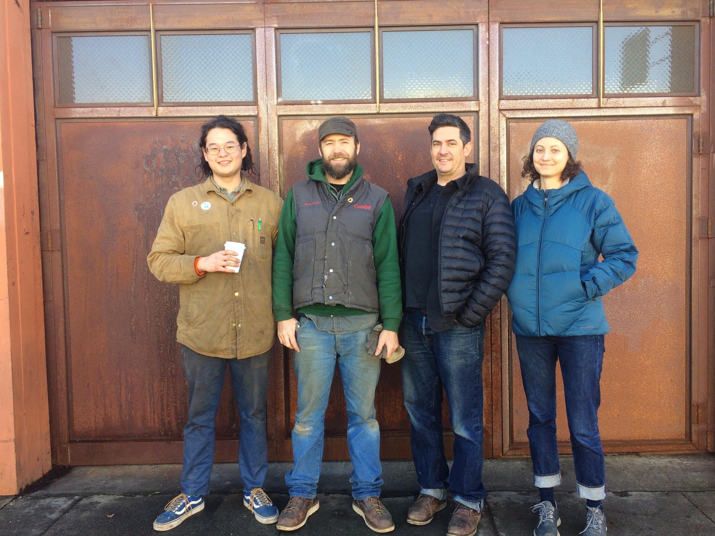 OAS Team (left to right) - Michale Sue, Shane Lindsay, Luigi Oldani, and Hannah Fariss  .