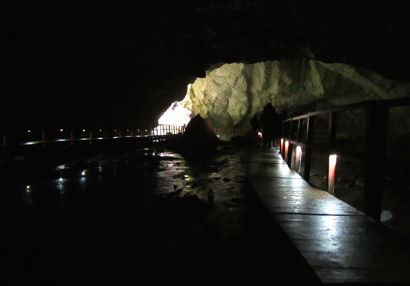 Scarisoara cave in Apuseni mountains