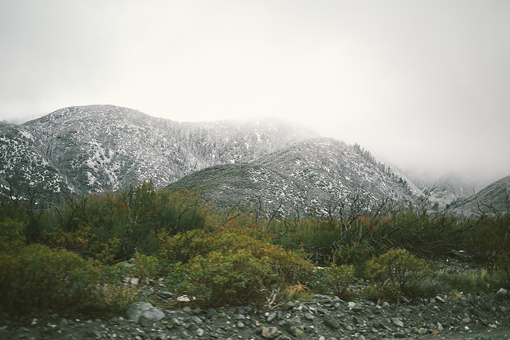 We took the Lone Pine backroad and this was the first glimpse of snow and it was so awesome!!!