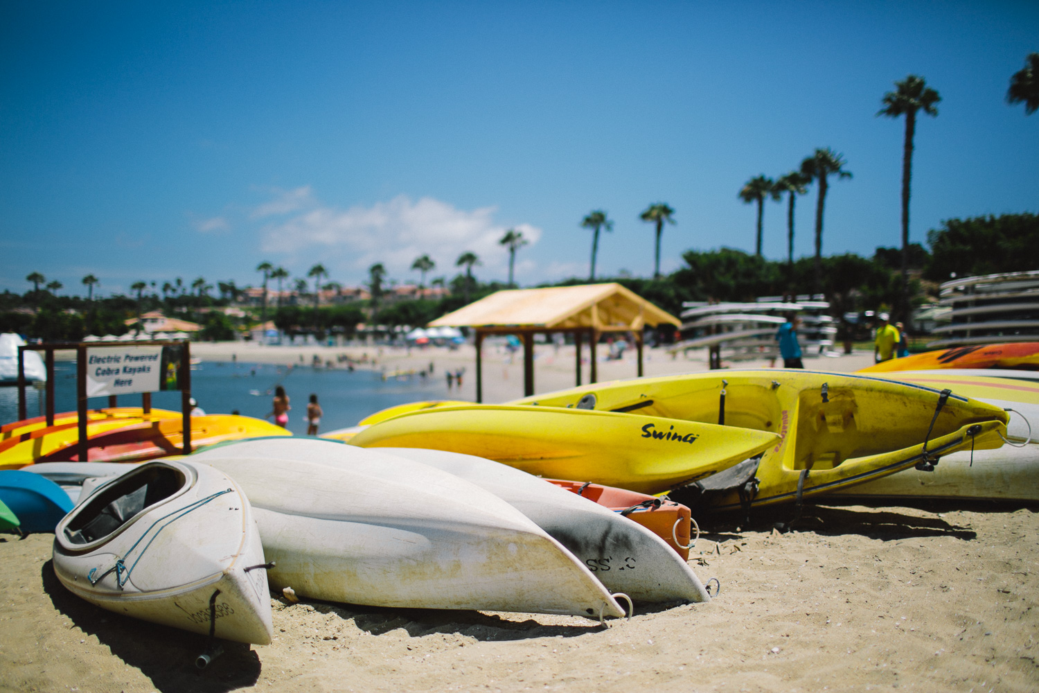 Racks on racks of Kayaks... must be nice. Shot this one at f/1.4 at 1/8000th ISO100.