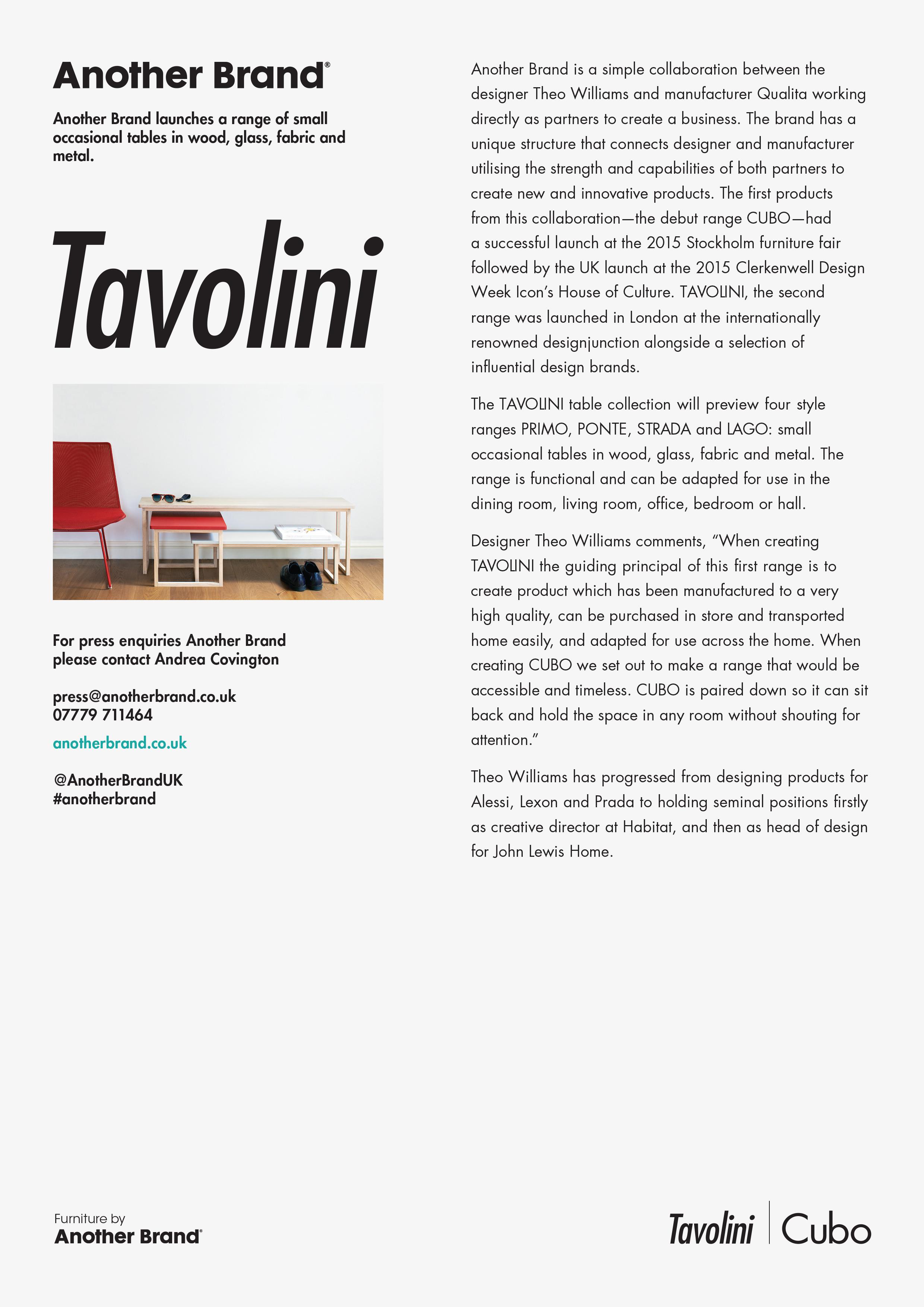 Launching Tavolini