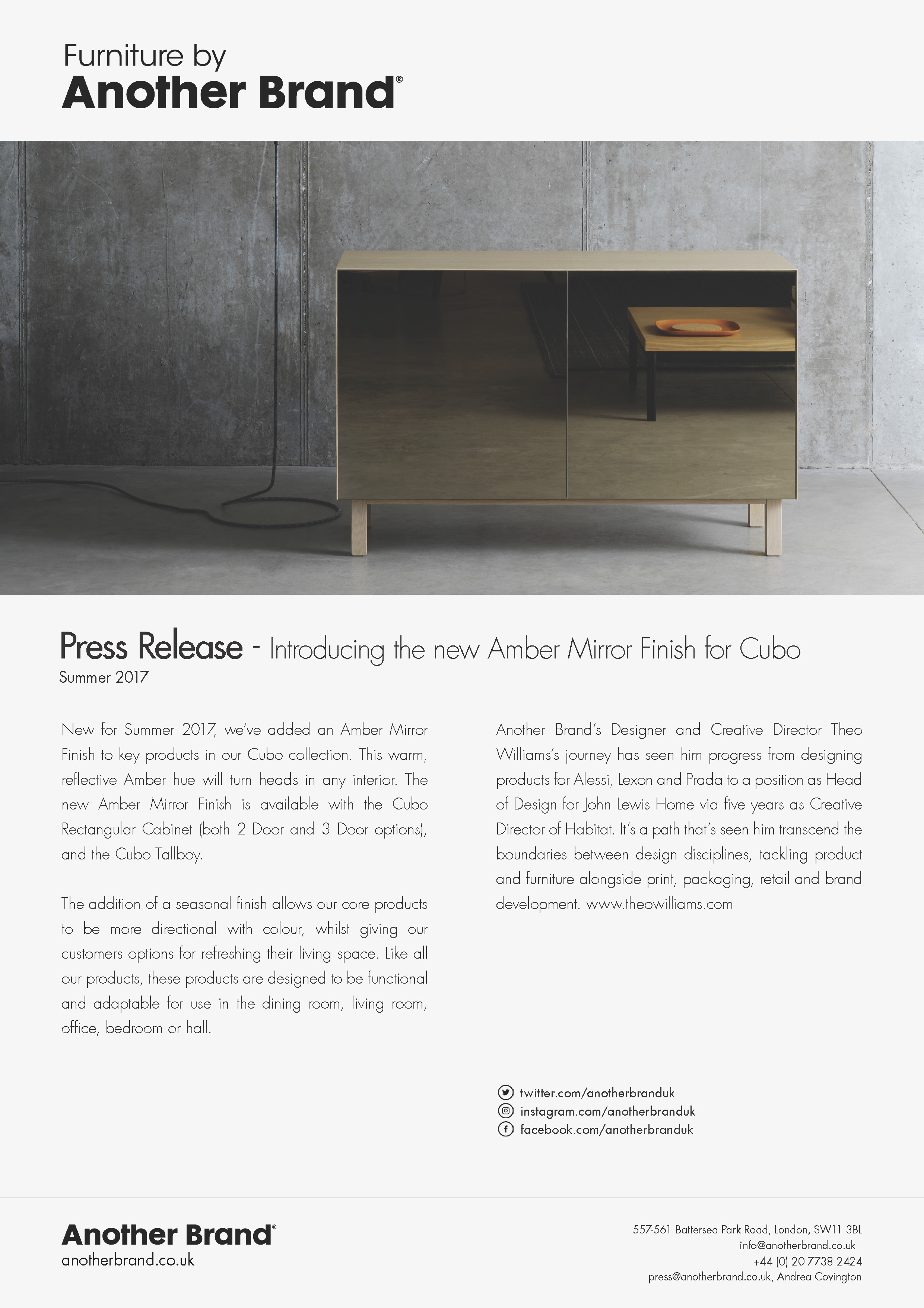Introducing the Amber Mirror Finish for Cubo