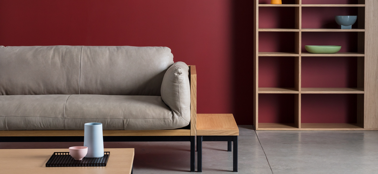 Take a Seat   The Legna sofa in distressed pull-up leather, inspired by British mid-century design classics.   Learn more