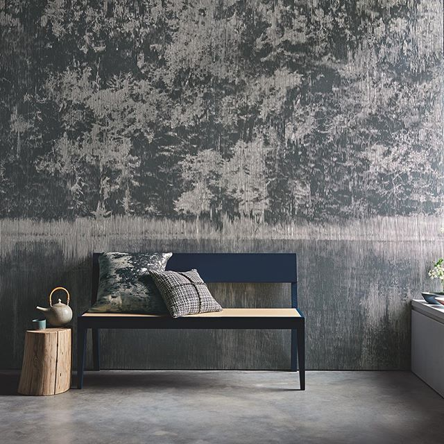 This incredible new collection of wall-coverings are the unique collaboration of Japanese artist, Katsutoshi Yuasa and @_black.edition @romo_fabrics. They have embarked on an exploration of time-honoured Japanese printmaking practises where traditional and contemporary techniques intertwine. As featured in @livingetcuk this stunning shoot by 📷@adrianbriscoe and stylist @oliviagregorystylist  features our Petrol Blue Cubo Bench.  #spotthecubobench #blackedition #romo #fabrics #wallcoverings #design #prints #mizumi #designcollaboration #bench #anotherbranduk
