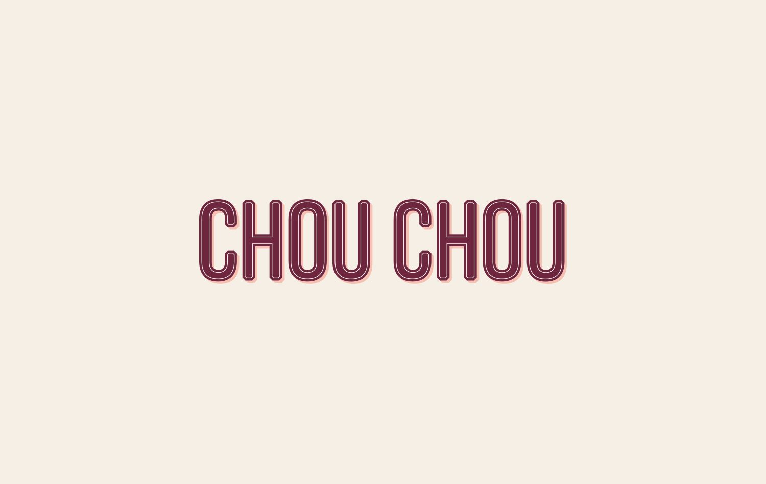 Chou Chou (2017) / Designed for  Paperwhite Studio  , NYC French éclair patisserie in NYC