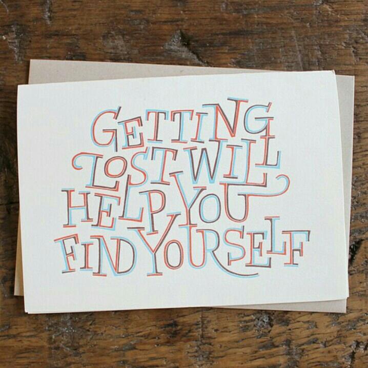 Se perder vai ter ajudar a encontrar você mesmo.