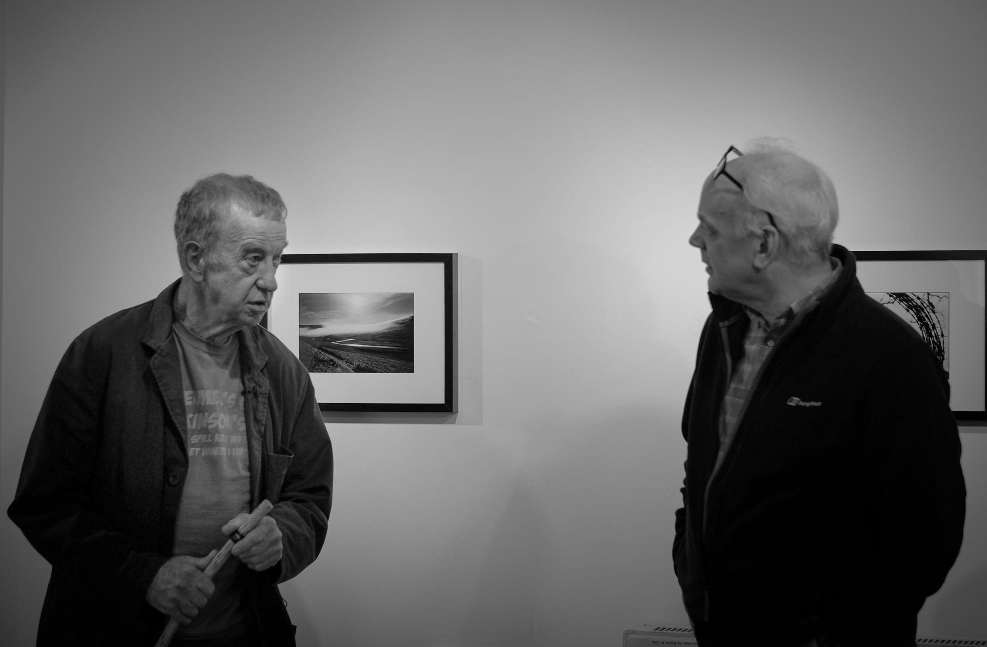Peter Jones with film editorGlyn Shakeshaft, Cardiff 2015.© Brian Carroll
