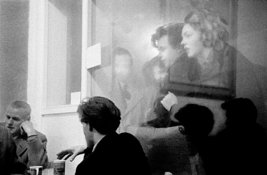The Partisan Coffee-Bar in Soho, London. 1957