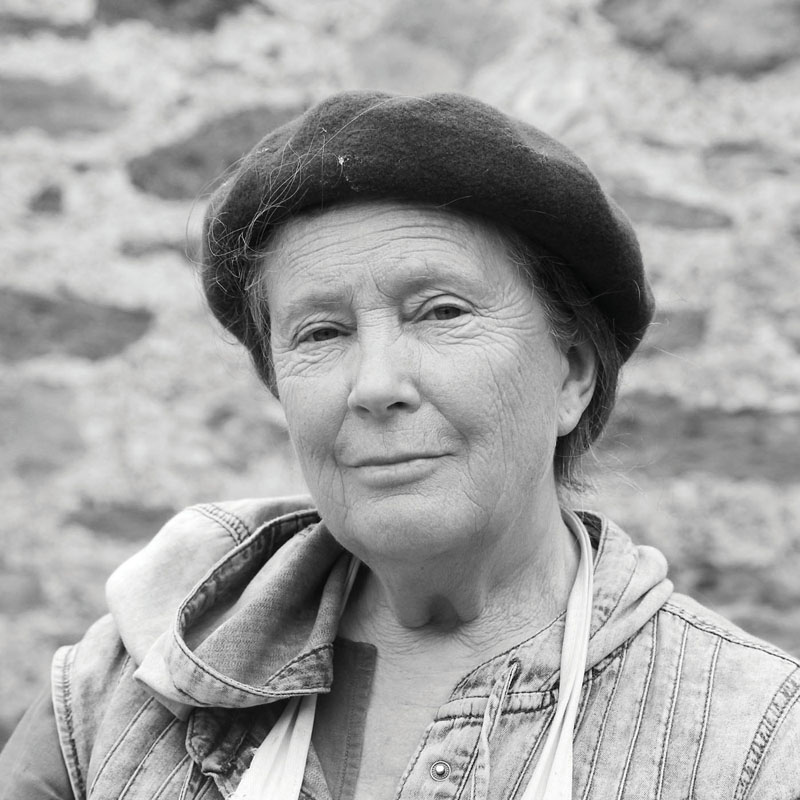 Carole Shearman artist on Bardsey Island. 2013