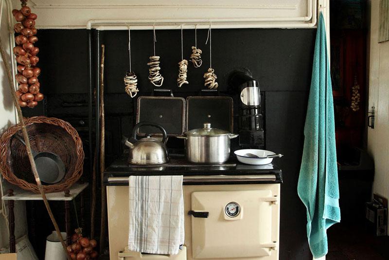 Emyr's kitchen, Bardsey Island.