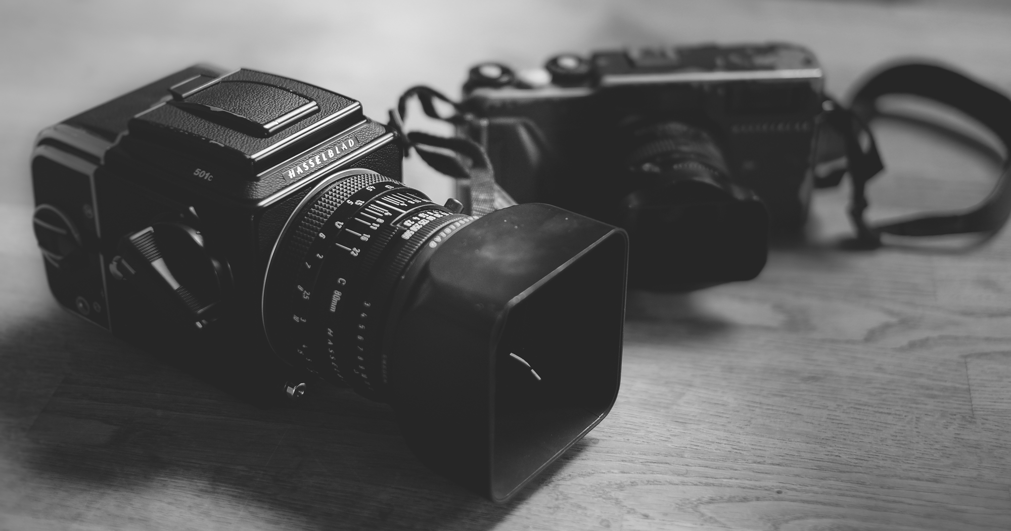 Aled's preferred film cameras.