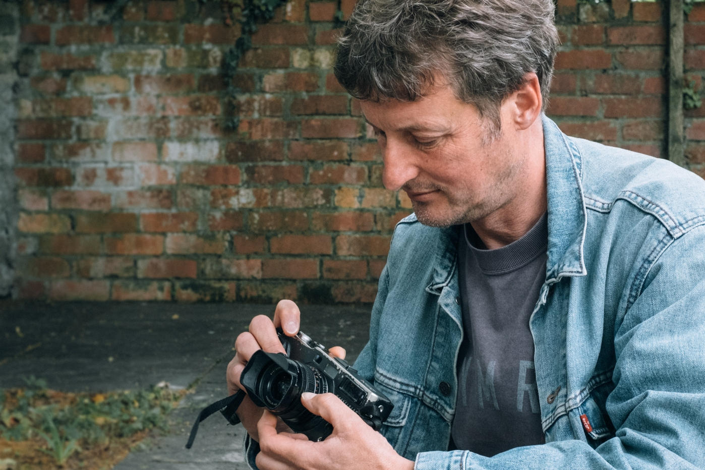 Aled with his X-Pan II - the camera he takes on all filming assignments