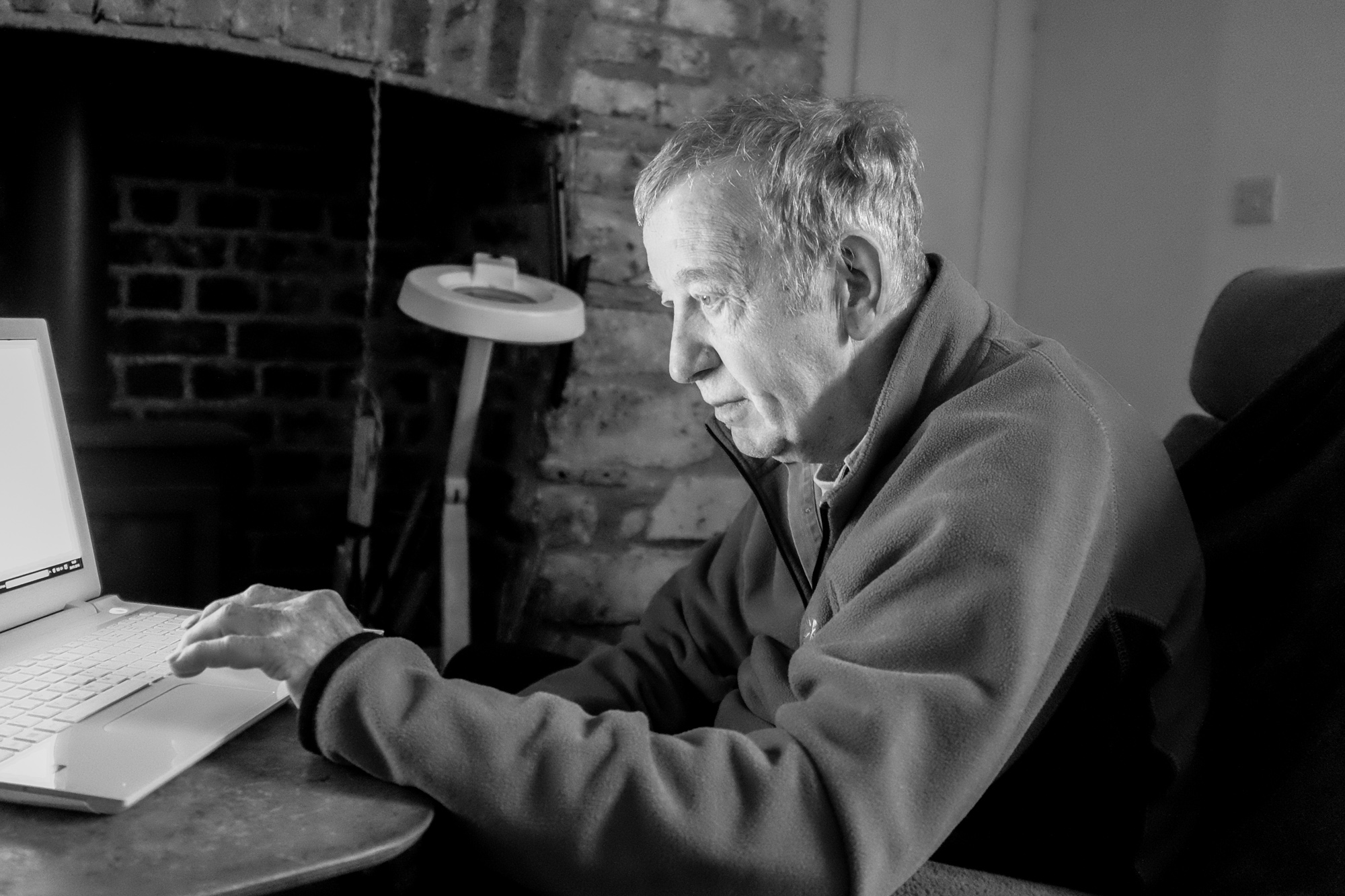 Peter Jones at home  . Image by   Alan Hale