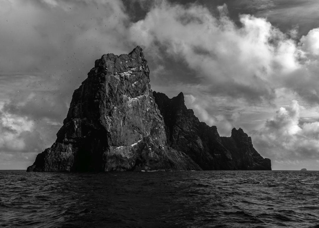 BR008 Stac an Armin with Boreray behind. St. Kilda