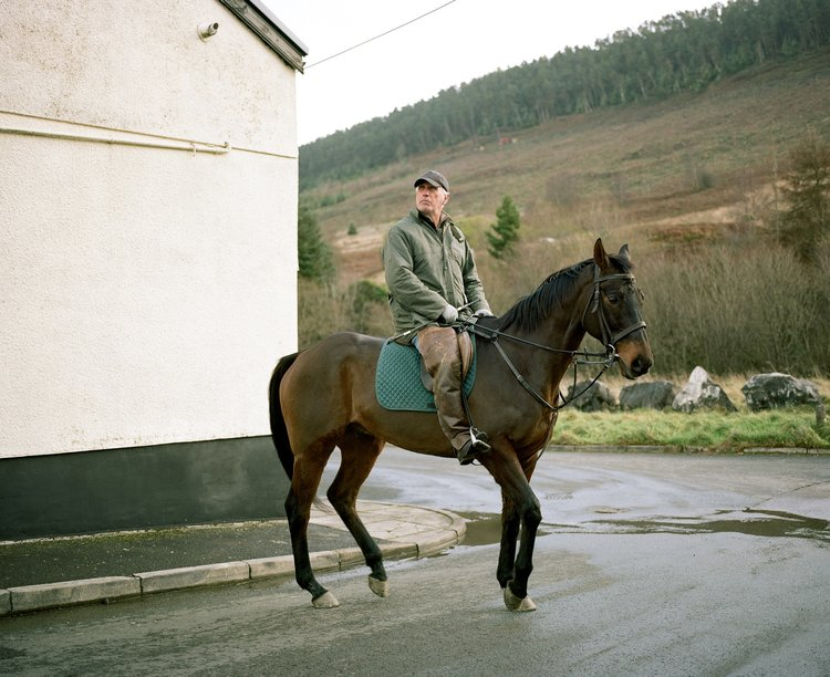 Derek the Horseman from 'Gap in the Hedge'. © Dan Wood