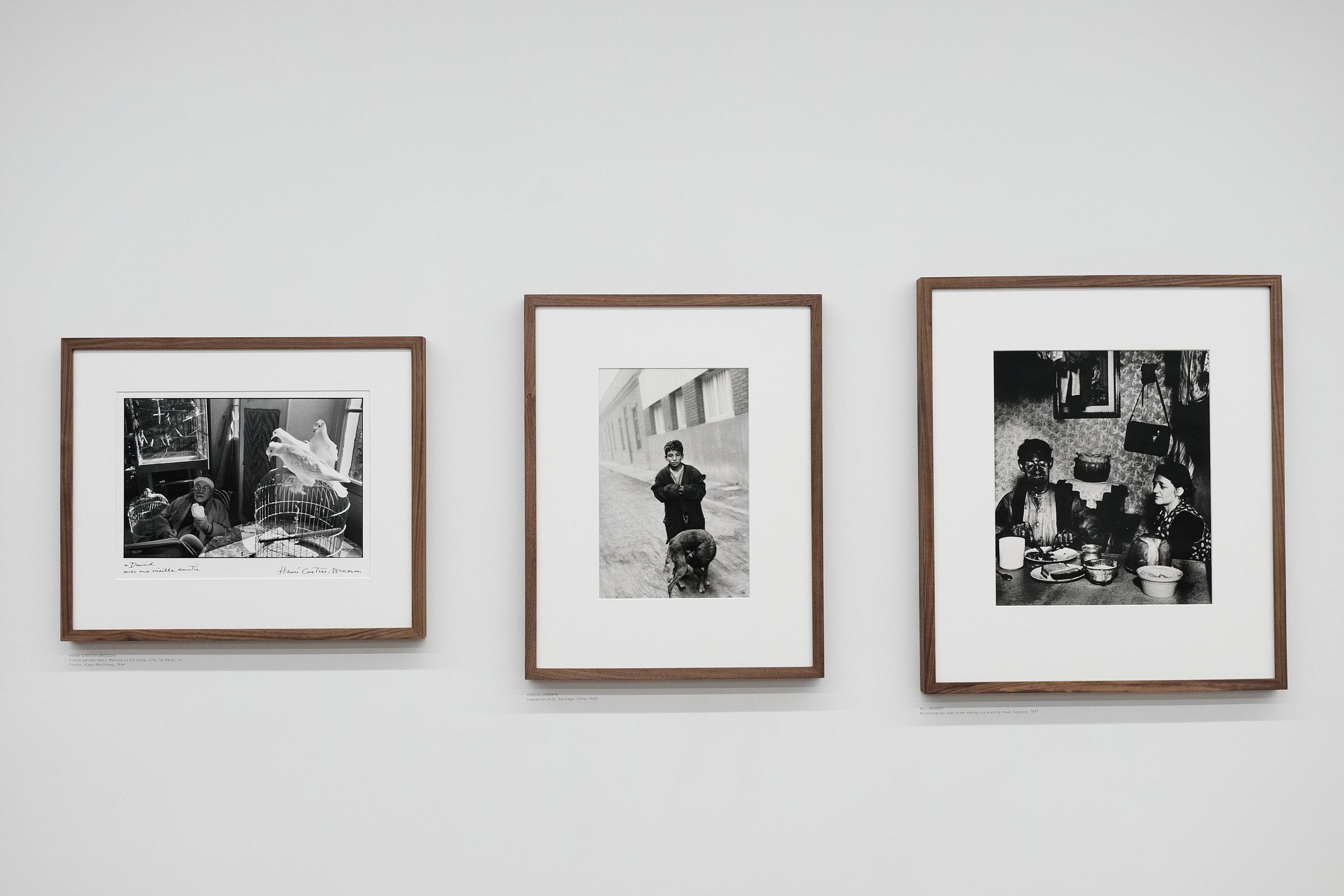 L-R: Cartier-Bresson,Sergio Larrain, Brandt